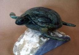 Jade Sea Turtle ~ Commissioned Sculpture
